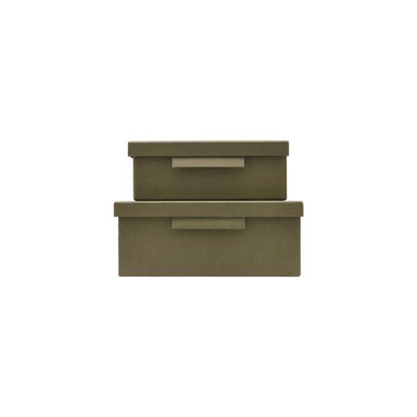 File æsker med låg fra Monograph i armygrøn