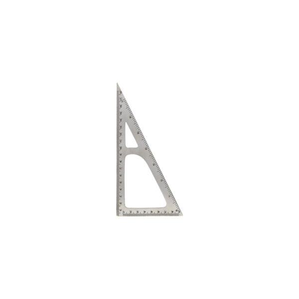 Monograph triangel lineal med sølv finish