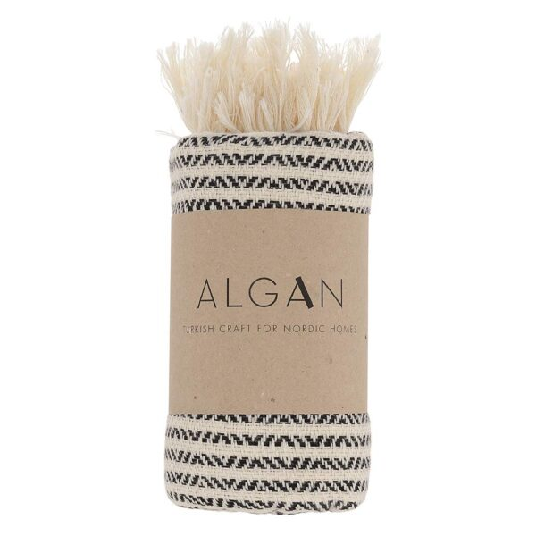 Algan Elmas-iki gæstehåndklæde i sort