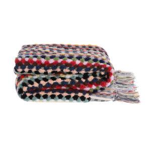 ALGAN ahududu badehåndklæde i multifarver