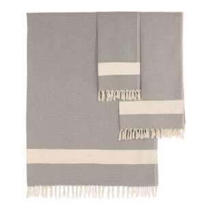 ALGAN Elmas gæstehåndklæde i grå diamant mønster