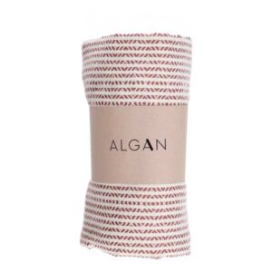 Algan elmas-iki hamamhåndklæde i mørk terrakotta