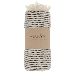 Algan Elmas-iki hamamhåndklæde i sort