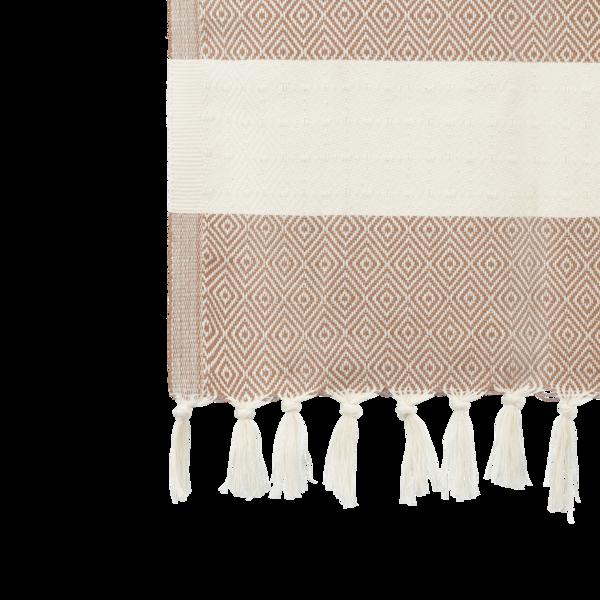 ALGAN Elmas gæstehåndklæde i brun diamant mønster