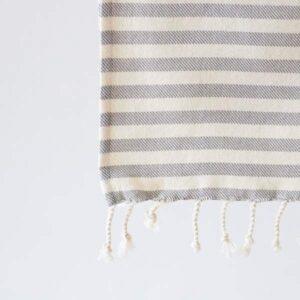 Algan Kavun hamamhåndklæde i grå striber