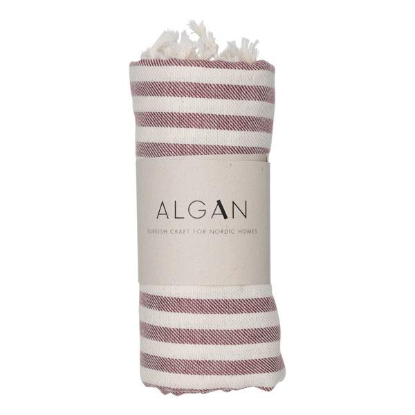 Algan Kavun hamamhåndklæde i cayenne striber