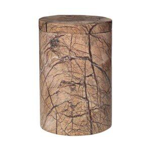 Broste Copenhagen Osvald lågkrukke M i brun marmor