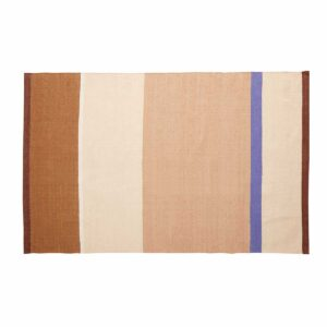 Hübsch gulvtæppe beige, sand, brun, blå, 120x180 cm