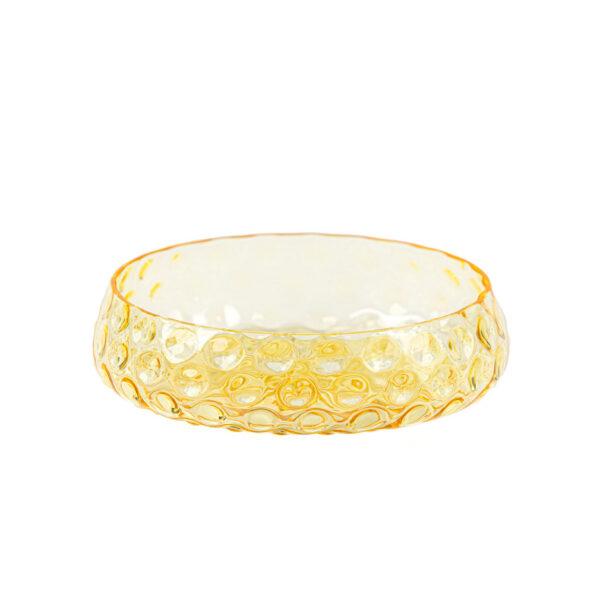 Kodanska danish summer skål gul glas Ø17,2 cm