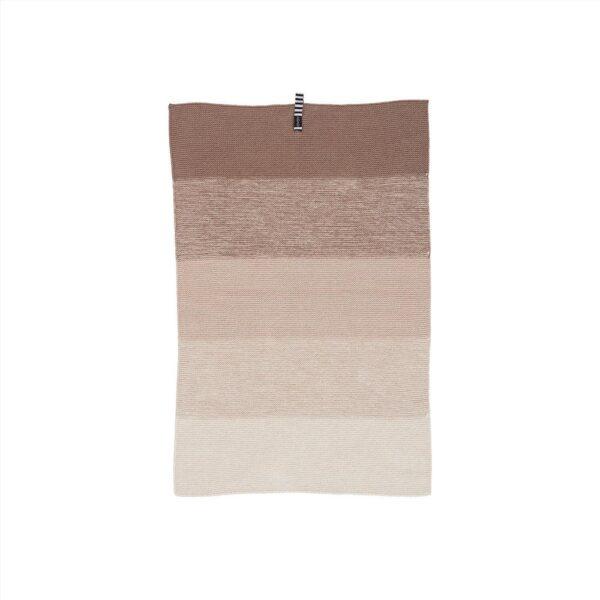 Niji mini håndklæde fra OYOY i brune nuancer