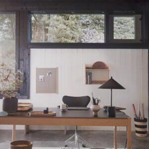 OYOY grid gulvtæppe 140x200 cm. Vendbart gulvtæppe i uld