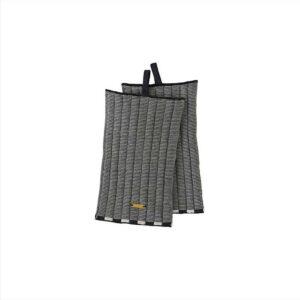 OYOY Stringa strikkede grydelapper i offwhite og antracite grå