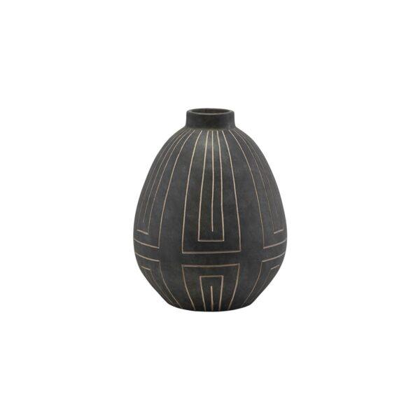 Aljeco vase fra House Doctor i grå / sort