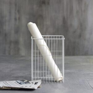 Stak skraldespand / papirkurv fra Monograph i hvid
