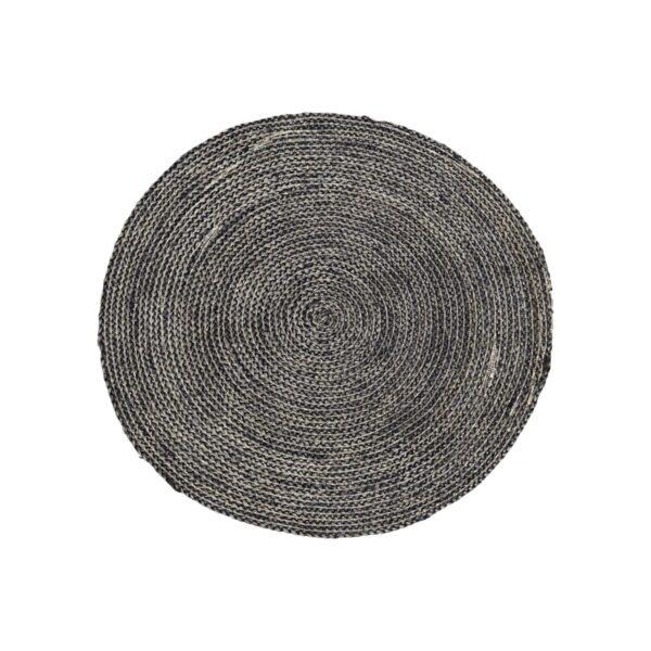Structure tæppe fra House Doctor i sort / grå