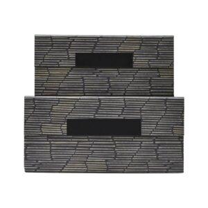 Stripe opbevaring med låg fra House Doctor i sort / beige / grå