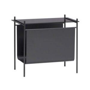 Bord med magasinholder fra Hübsch i sort