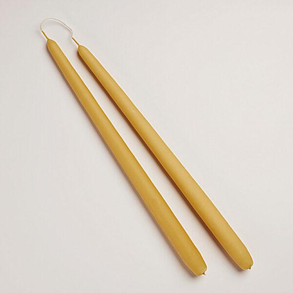 Diederich lys stearinlys 34 cm amber - 2 stk
