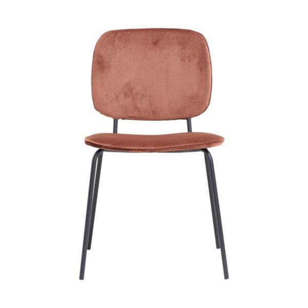 Comma spisebordsstol i rust rød velour fra House Doctor