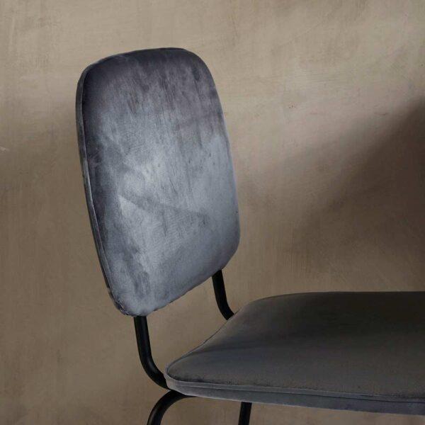 House Doctor comma grå velour stol