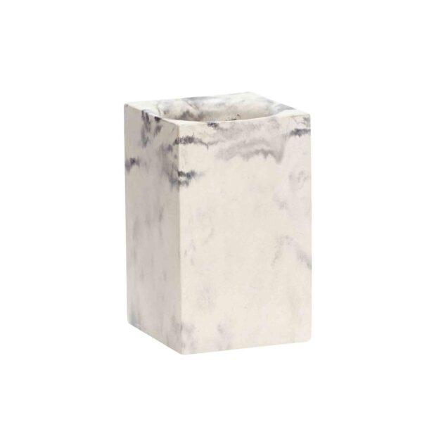Hübsch opbevaring i beton med marmor finish - flot blyantskrus