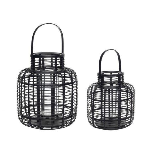 Lanterne fra Hübsch i sort bambus