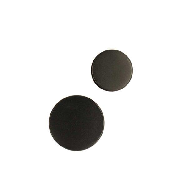 MOUD Home Dot knage i mat sort Ø3,2 cm