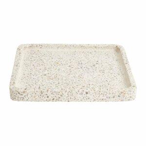 NOrdal terrazzo fad i hvid, 25x25 cm