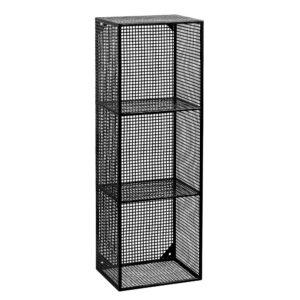 Nordal wire box med 3 rum sort mtetal