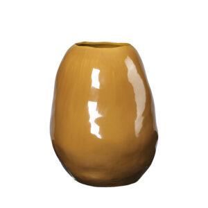 Organic vase fra Broste Copenhagen i brændt orange
