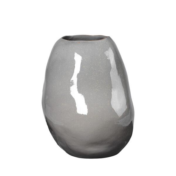 Organic vase fra Broste Copenhagen i grå