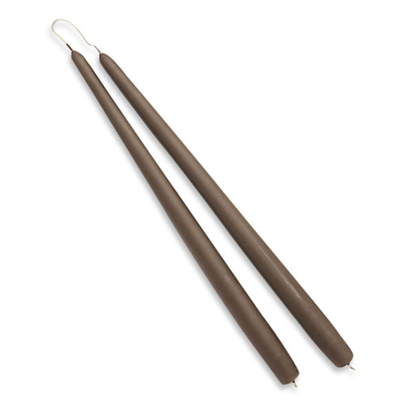 Diederich lys stearinlys 34 cm gråbrun - 2 stk