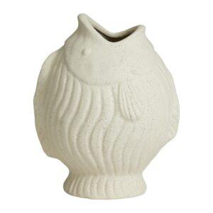 DUCIE fiske vase fra Nordal i hvid med størrelsen large