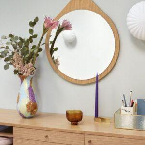 Glas vase fra Hübsch i multifarvet