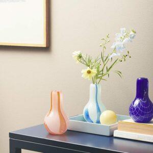 Kodanska Flow vase blå med striber