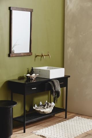 LUNA badeværelsesmåtte fra Nordal i off white
