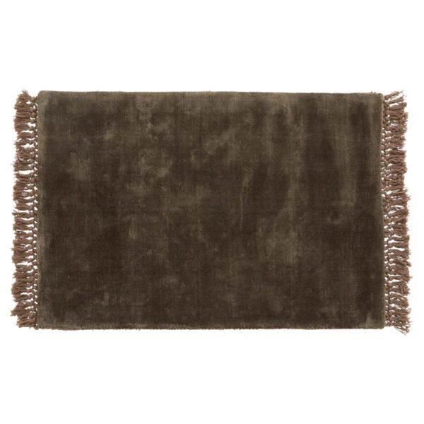 NOBLE gulvtæppe med frynser fra Nordal i grå