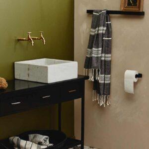 Nordal sotra toiletrulleholder i sort stål