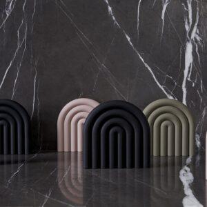 OYOY Rainbow bordskåner i rosa silikone