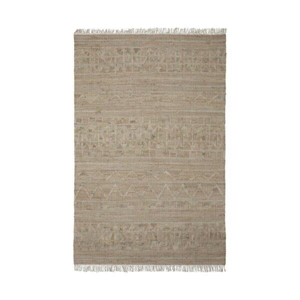 Shriv tæppe fra House Doctor med aflang form i sandfarvet