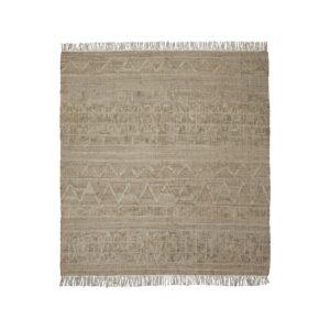 Shriv tæppe fra House Doctor med kvadratisk form i sandfarvet