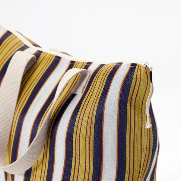 Recy taske/shopper fra House Doctor i gul og brun