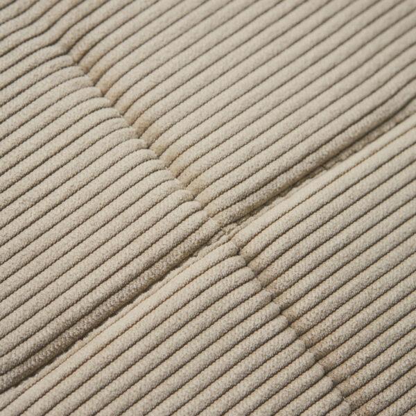 Cord siddehynde fra House Doctor i sandfarvet
