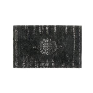 GRAND tæppe fra Nordal i mørkegrå og sort