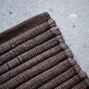 House Doctor Chindi gulvtæppe brun 160x70 cm