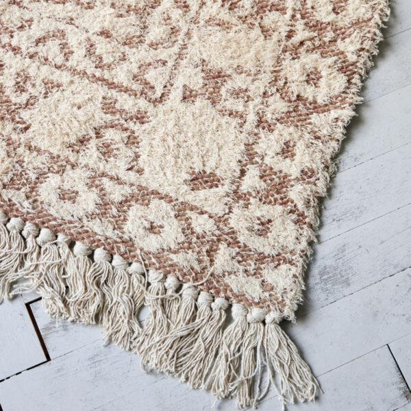 Wowe tæppe fra House Doctor i beige 180x180