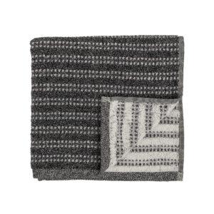 Håndklæde fra Bloomingville i sort og bomuld i størrelsen 100x50