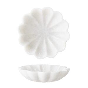 Bakke fra Bloomingville i hvid marmor