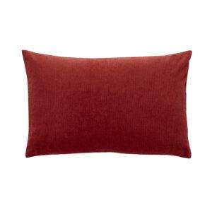 Pude med fyld fra Hübsch i lilla og rød
