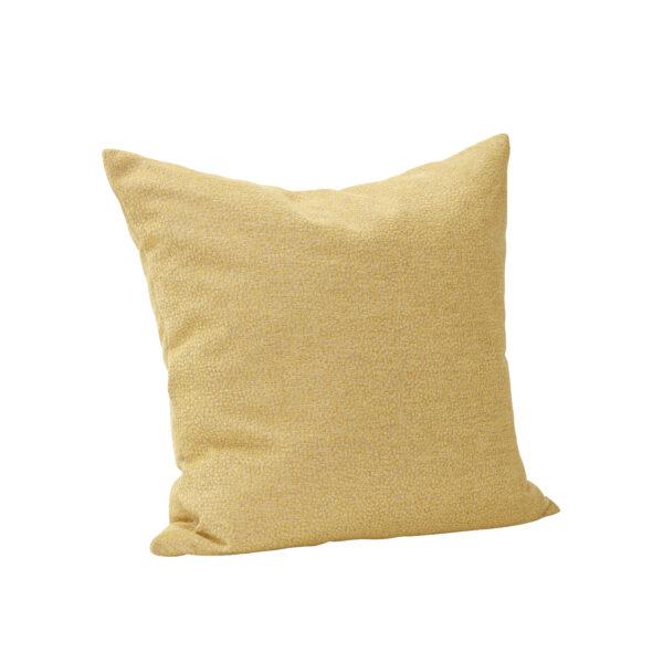Pude med fyld fra Hübsch i gul